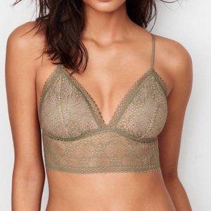 Victoria's Secret Long Line Lace Bralette 32A